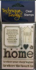 Technique Tuesday-Home is Where the Heart Is Stamp Set