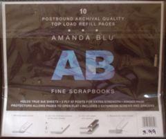 Amanda Blu 8 x 8 Refill Pages