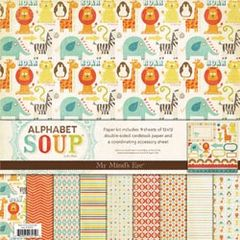 Alphabet Soup Boy My Mind's Eye Paper Kit