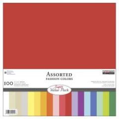 "Super Value Pack Cardstock Assortment 12""X12"" 100/Pkg Assorted"