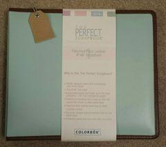 "Perfect Scrapbook Faux Leather Album 8""X8"" Newport Blue"