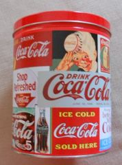 1994 Coca Cola Vintage Sign Tin Canister