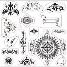 Fiskars Li'l Davis Designs 15 Clear Crillon Adornment Stamps