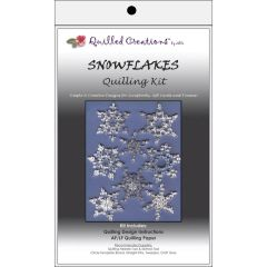 QUILLED CREATIONS SNOWFLAKE THEME QUILLING KIT