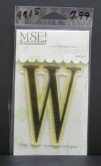 MSE-Classic Upper Monogram Stamp Letter W