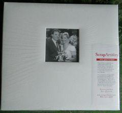 White Leather 12x12 Postbound Album with Window