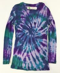 girls long sleeve tie-dye t