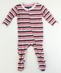 baby footie pajamas pink stripes