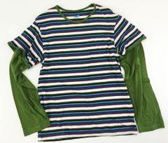 boys double sleeve stripes t (size 10)