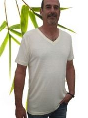 Men's bamboo/hemp v-neck