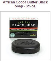 Black Soap with Cocoa with Vitamin E