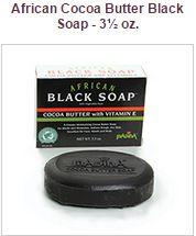 Black Soap with Cocoa with Vitamin E
