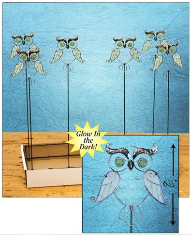 PS126 Owl Plant Stick with Free Display (24 PCS SET)
