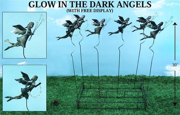 PS115 Glow In The Dark Angel Plant Sticks (12 PCS SET)