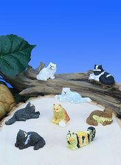 MCT200 Mini Fluffy Cats (12 PC SET)