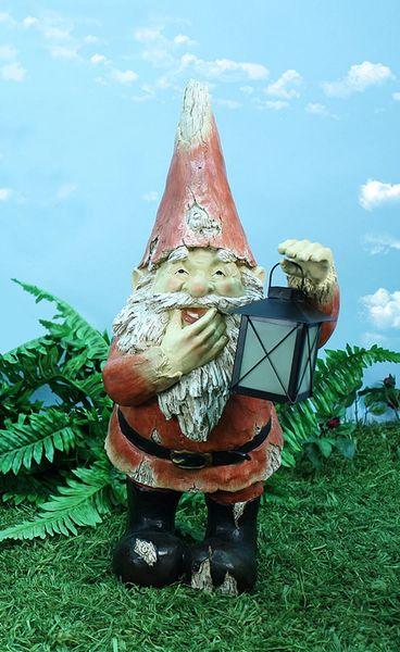 Lg Gnome w/Glow in Dark Lantern (2 PC SET)