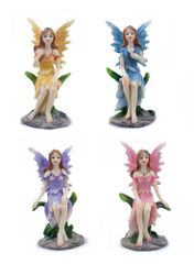 FA129 Fairy Sitting On Leaf (12 PCS SET)