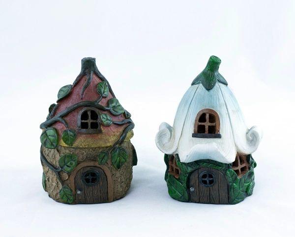 Decorative Leaf Fairy House with LED Light (6 PCS SET)