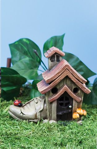 Sm Fairy Shoe House with LED Light (6 PCS SET)