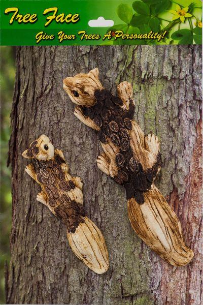 Squirrel Set Tree Face (4 PC SET)