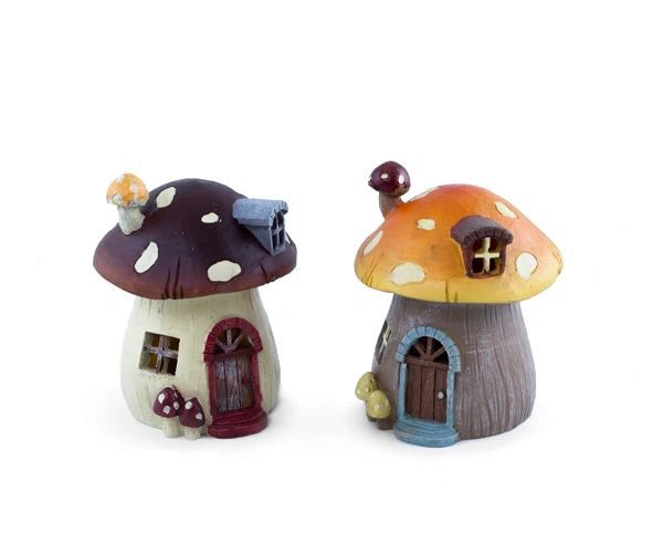 FA57 Lg Mushroom House with LED Light (6 PCS SET)
