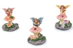 FA96 Mini Fairies on Mushroom (12 PCS SET)