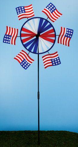 America Flag Wind Spinner (12 PCS SET)