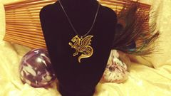 Gold Chain Celestial Dragon Pendant