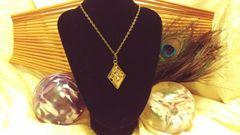 Silver Unicorn in Gold Flake, Diamond Resin Pendant