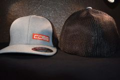 Light grey and black flex fit Cobb hat