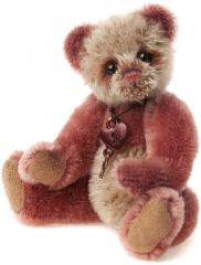 HALF PRICE! Charlie Bears Mini Mohair SLIPPER Keyring 13cm (Limited to 1200 Worldwide)