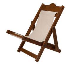 HALF PRICE! Charlie Bears Deck Chair Brown Driftwood