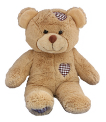 TEDDY MOUNTAIN Build A Bear Pack Large BROWN PATCHES Bear