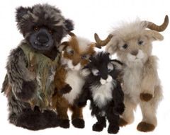 HALF PRICE! Charlie Bears Isabelle Mohair Collection BILLY GOATS & GRUFF 4 Piece Set (Only 200 Sets Worldwide)