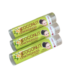 Coconut Lemongrass Lip Balm (Set of 3)