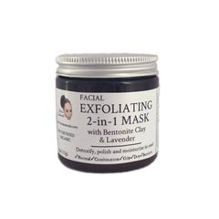 2-in-1 Exfoliating Facial Mask with Bentonite Clay & Lavender