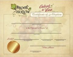 Adopt a Vine (Certificate and Seminars)