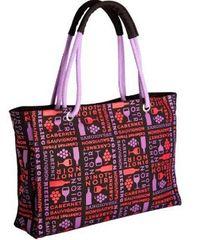 Red and Purple Shoulder Bag