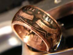 Guns & Gold Copper Coin Ring