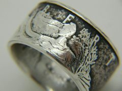 Silver American Eagle Coin Ring