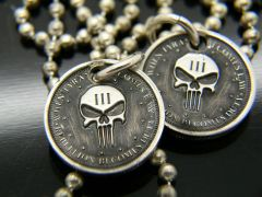 Silver Punisher Pendant