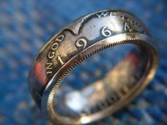 1964 Kennedy Half Dollar Coin Ring