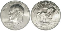 IKE Eisenhower Silver Dollar Coin Ring '71-'78