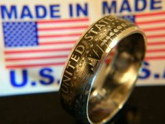 Inside Out Kennedy Half Dollar Coin Ring