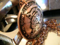 Don't Tread On Me Copper Pendant
