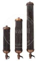 Retail Coffee Bean Dispenser Silos - Antique COPPER with 18 inch Tube. Customer can upgrade tube to 24 inch or 36 inch Tube Length. Option menu inside.