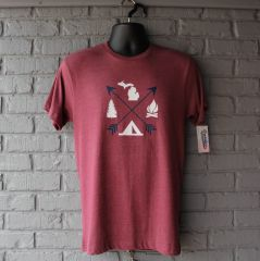 Arrows Michigan Tee (Vintage Burgundy)