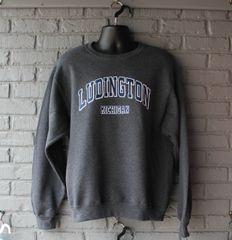 Ludington Old School Crew Neck Sweatshirt (Black Heather)