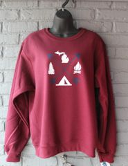 Arrows Michigan Crew Neck Sweatshirt (Maroon)