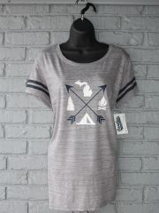 Arrows Michigan Football Tee (Athletic Heather/Navy)